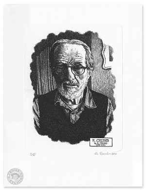 R. Crumb 2020 Self-portrait etching