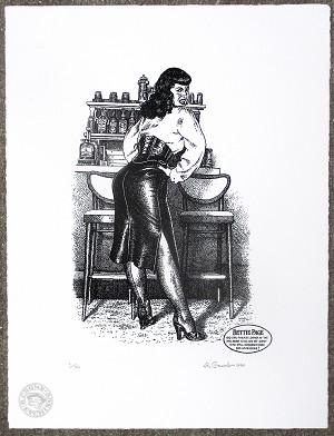 Bettie Page Signed & Numbered Etching