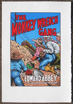 The Monkey Wrench Gang Signed & Numbered Serigraph Print