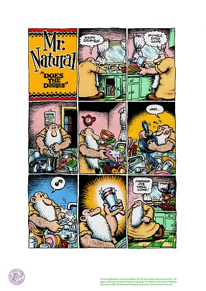 Mr. Natural Does the Dishes giclée print