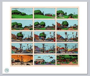 15 Panel Short History of America Giclee